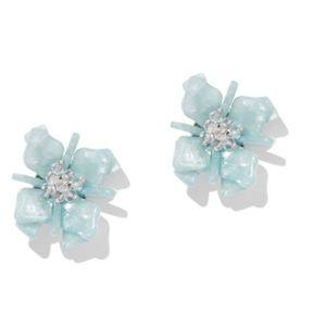 Beaded Floral Green Valley Post Earrings